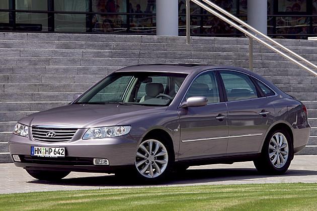 HYUNDAI Grandeur car technical data. Car specifications. Vehicle