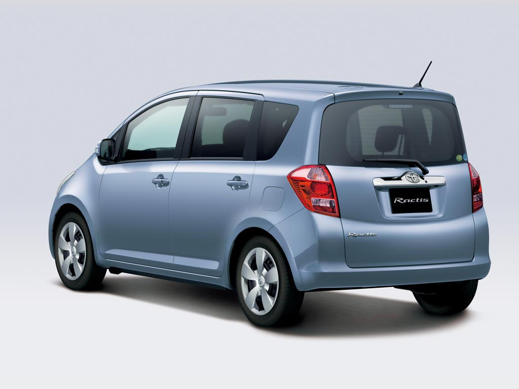 TOYOTA Ractis car technical data. Car specifications. Vehicle fuel